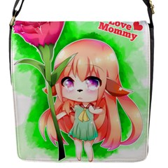Happy Mother s Day Furry Girl Flap Messenger Bag (s) by Catifornia