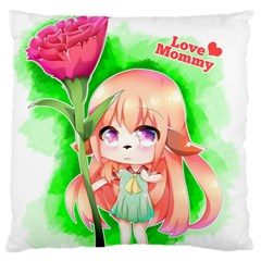 Happy Mother s Day Furry Girl Standard Flano Cushion Case (one Side) by Catifornia