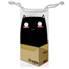 Black Cat In A Box Jewelry Bag by Catifornia