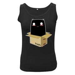 Black Cat In A Box Women s Black Tank Top by Catifornia