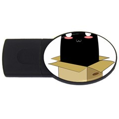 Black Cat In A Box Usb Flash Drive Oval (4 Gb) by Catifornia
