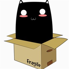 Black Cat In A Box Canvas 12  X 12   by Catifornia