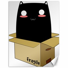 Black Cat In A Box Canvas 12  X 16   by Catifornia