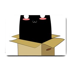 Black Cat In A Box Small Doormat  by Catifornia