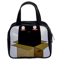 Black Cat In A Box Classic Handbags (2 Sides) by Catifornia