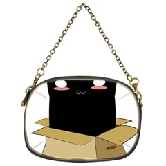 Black Cat In A Box Chain Purses (one Side)  by Catifornia