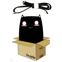 Black Cat In A Box Shoulder Sling Bags by Catifornia