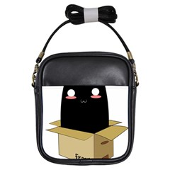 Black Cat In A Box Girls Sling Bags by Catifornia