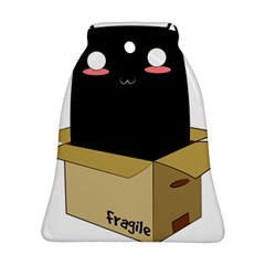 Black Cat In A Box Bell Ornament (two Sides) by Catifornia