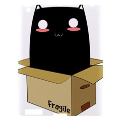 Black Cat In A Box Apple Ipad 3/4 Hardshell Case by Catifornia