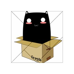 Black Cat In A Box Acrylic Tangram Puzzle (4  X 4 ) by Catifornia