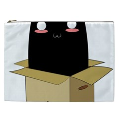 Black Cat In A Box Cosmetic Bag (xxl)  by Catifornia