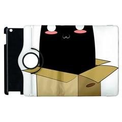 Black Cat In A Box Apple Ipad 2 Flip 360 Case by Catifornia