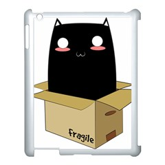 Black Cat In A Box Apple Ipad 3/4 Case (white) by Catifornia