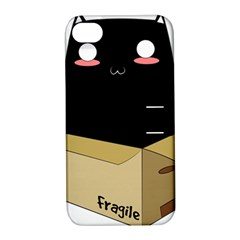 Black Cat In A Box Apple Iphone 4/4s Hardshell Case With Stand by Catifornia