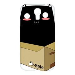 Black Cat In A Box Samsung Galaxy S4 I9500/i9505 Hardshell Case by Catifornia