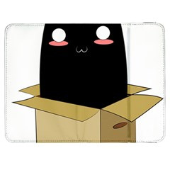 Black Cat In A Box Samsung Galaxy Tab 7  P1000 Flip Case by Catifornia