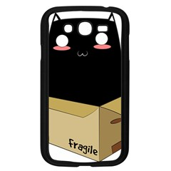 Black Cat In A Box Samsung Galaxy Grand Duos I9082 Case (black) by Catifornia