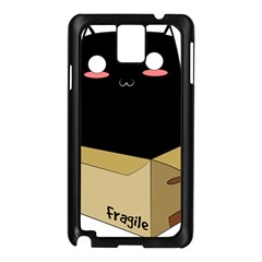 Black Cat In A Box Samsung Galaxy Note 3 N9005 Case (black) by Catifornia