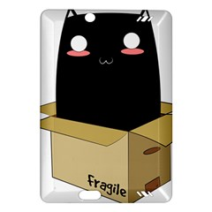Black Cat In A Box Amazon Kindle Fire Hd (2013) Hardshell Case by Catifornia