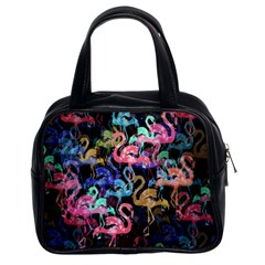 Flamingo Pattern Classic Handbags (2 Sides) by Valentinaart