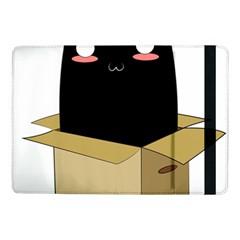 Black Cat In A Box Samsung Galaxy Tab Pro 10 1  Flip Case by Catifornia