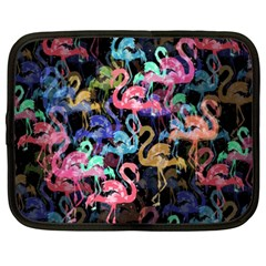 Flamingo Pattern Netbook Case (xxl)  by Valentinaart