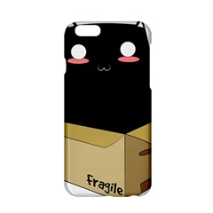 Black Cat In A Box Apple Iphone 6/6s Hardshell Case by Catifornia
