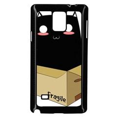 Black Cat In A Box Samsung Galaxy Note 4 Case (black) by Catifornia