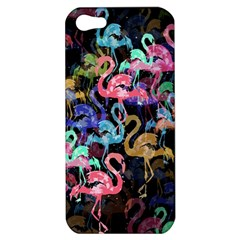 Flamingo Pattern Apple Iphone 5 Hardshell Case by Valentinaart