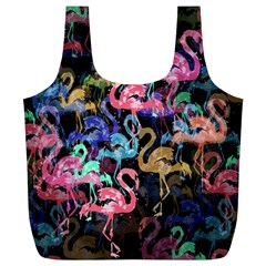 Flamingo Pattern Full Print Recycle Bags (l)  by Valentinaart