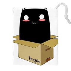 Black Cat In A Box Drawstring Pouches (xxl) by Catifornia