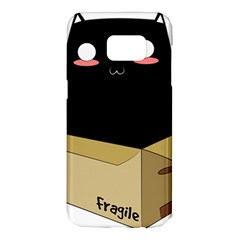 Black Cat In A Box Samsung Galaxy S7 Edge Hardshell Case by Catifornia