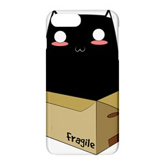 Black Cat In A Box Apple Iphone 7 Plus Hardshell Case by Catifornia