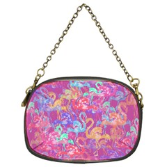 Flamingo Pattern Chain Purses (two Sides)  by Valentinaart