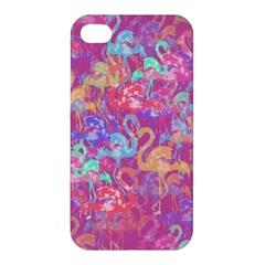 Flamingo Pattern Apple Iphone 4/4s Hardshell Case by Valentinaart