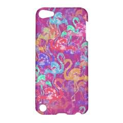 Flamingo Pattern Apple Ipod Touch 5 Hardshell Case by Valentinaart