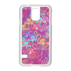 Flamingo Pattern Samsung Galaxy S5 Case (white) by Valentinaart