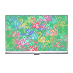 Flamingo Pattern Business Card Holders by Valentinaart