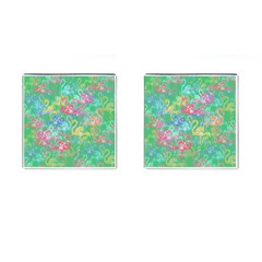 Flamingo Pattern Cufflinks (square) by Valentinaart