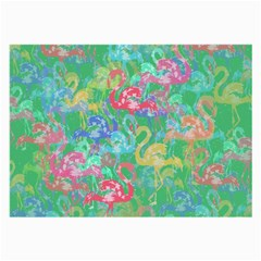 Flamingo Pattern Large Glasses Cloth (2 Side) by Valentinaart