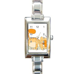 Even Cat Hates Monday Rectangle Italian Charm Watch by Catifornia
