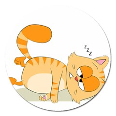Even Cat Hates Monday Magnet 5  (round) by Catifornia