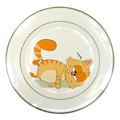 Even Cat Hates Monday Porcelain Plates by Catifornia