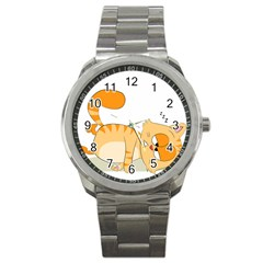 Even Cat Hates Monday Sport Metal Watch by Catifornia