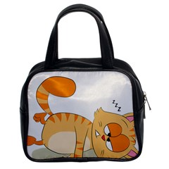 Even Cat Hates Monday Classic Handbags (2 Sides) by Catifornia