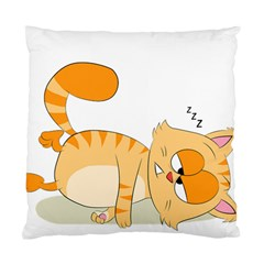 Even Cat Hates Monday Standard Cushion Case (two Sides) by Catifornia