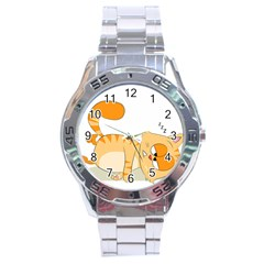 Even Cat Hates Monday Stainless Steel Analogue Watch by Catifornia
