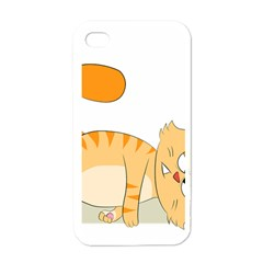 Even Cat Hates Monday Apple Iphone 4 Case (white) by Catifornia