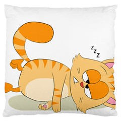 Even Cat Hates Monday Large Cushion Case (two Sides) by Catifornia